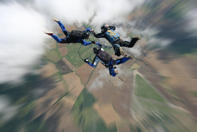skydivers freefall стоковое фото