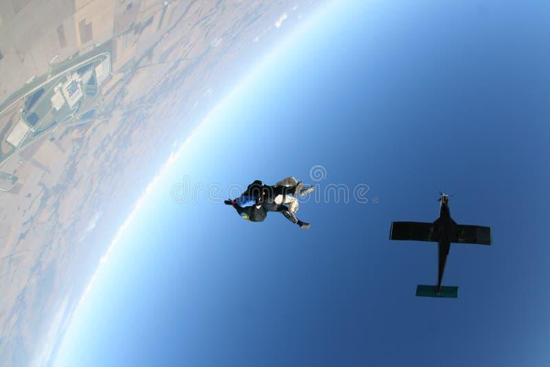 Skydivevrije val stock foto