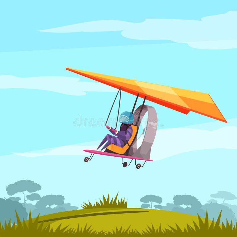 Skydiving体育平的海报 皇族释放例证