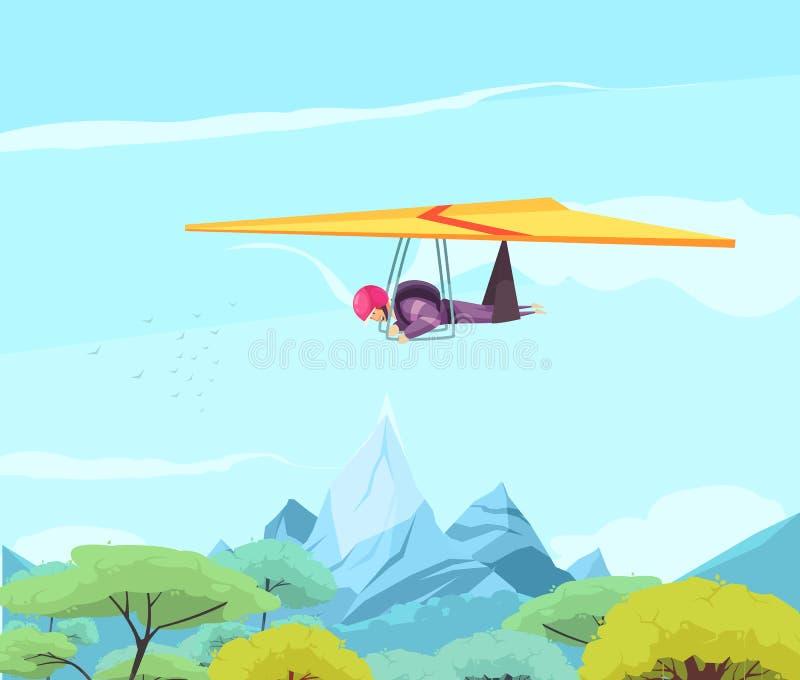 Skydiving体育滑动的海报 库存例证