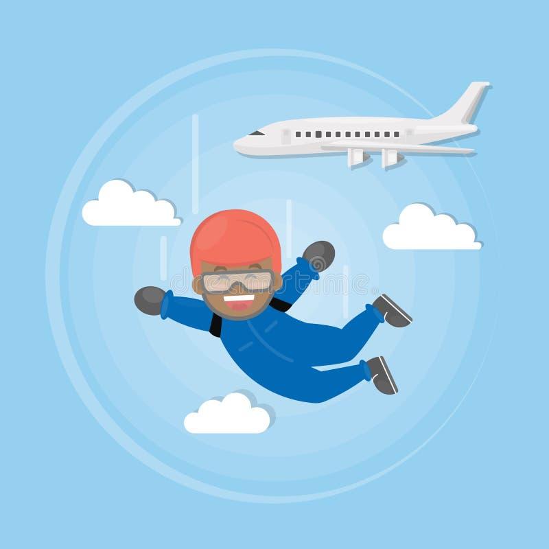 Skydiving激活体育 皇族释放例证