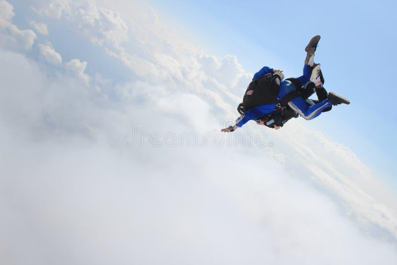 skydiving royalty-vrije stock afbeeldingen
