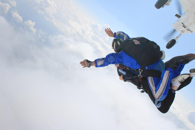 skydiving foto de stock