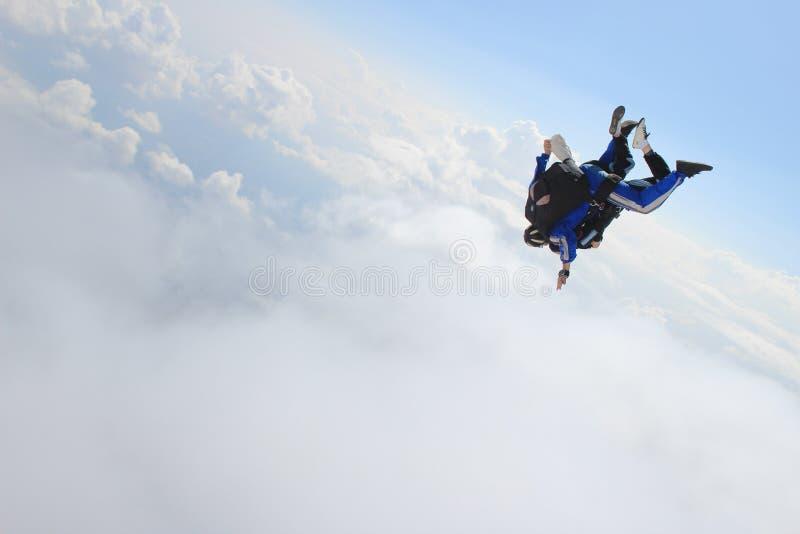 skydiving stock afbeelding