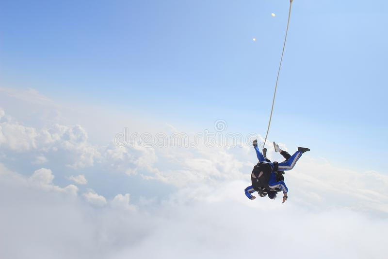 skydiving fotos de stock