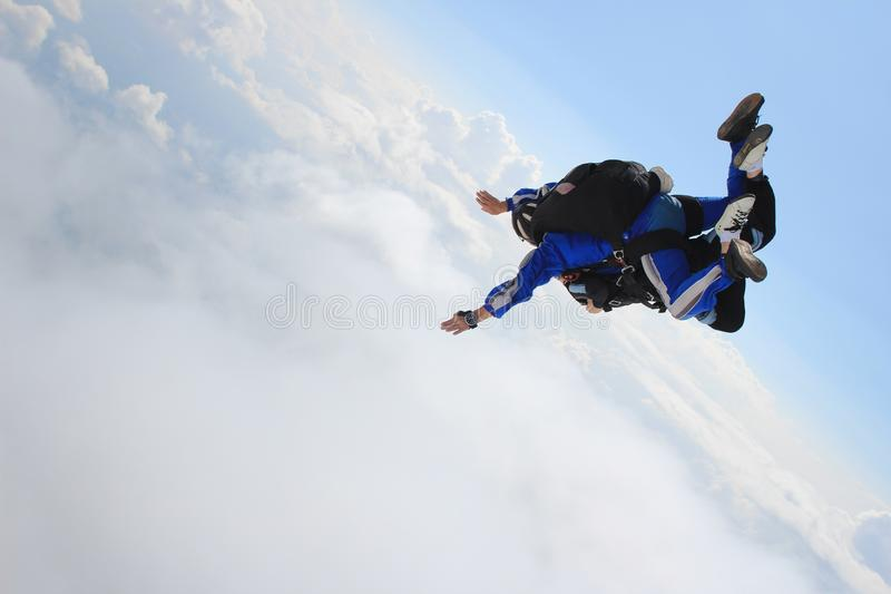 skydiving стоковое фото