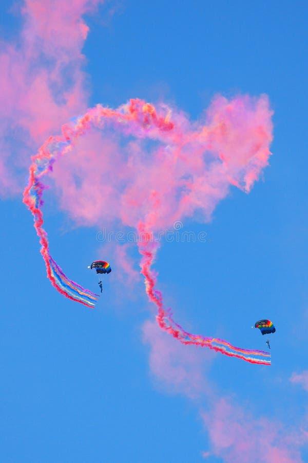 skydiving 图库摄影