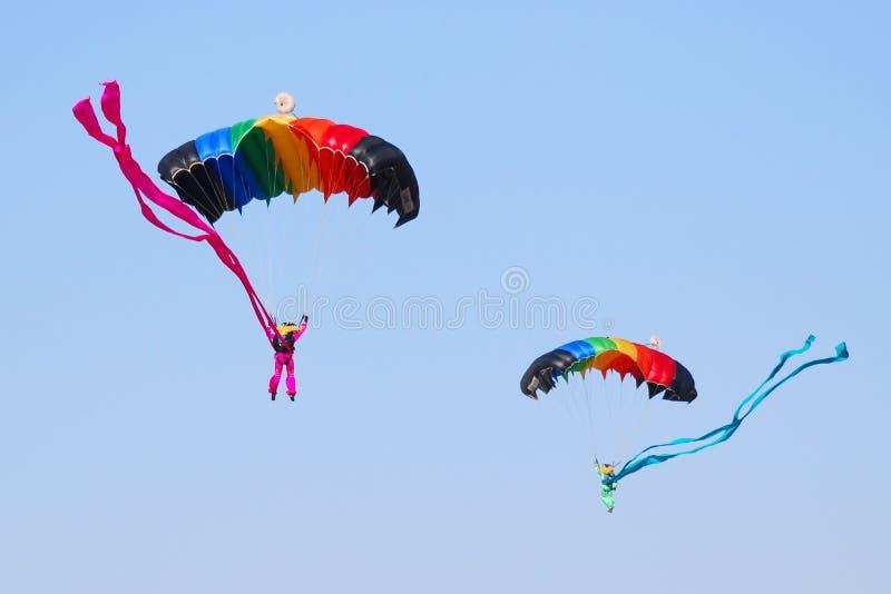 skydiving 库存照片