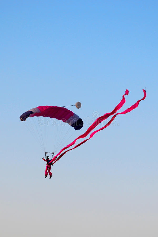 Skydiving image stock