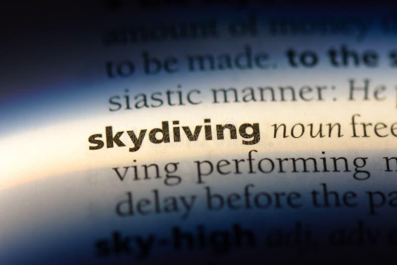 skydiving fotos de archivo