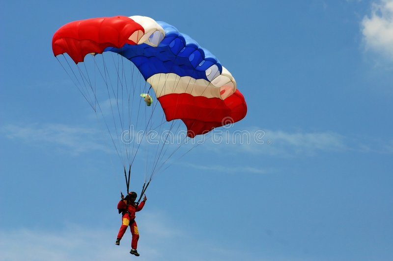 Skydiving stock foto's