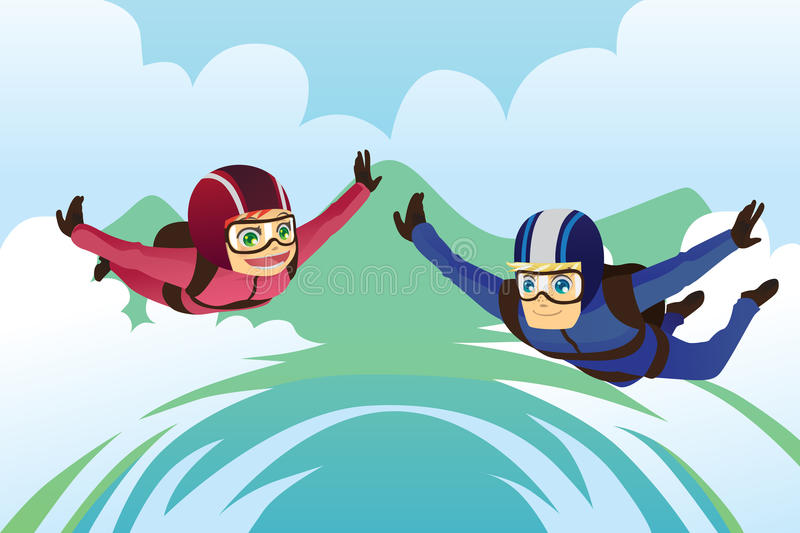 Skydiving stock illustration