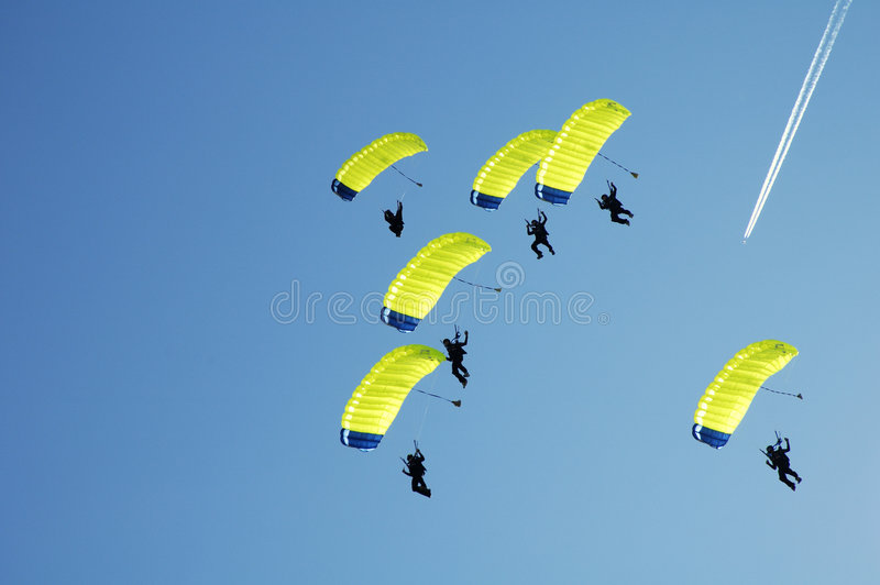 Skydiving photographie stock