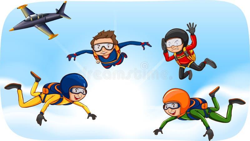 Download Skydiving illustrazione vettoriale. Illustrazione di jumpsuit - 55365426