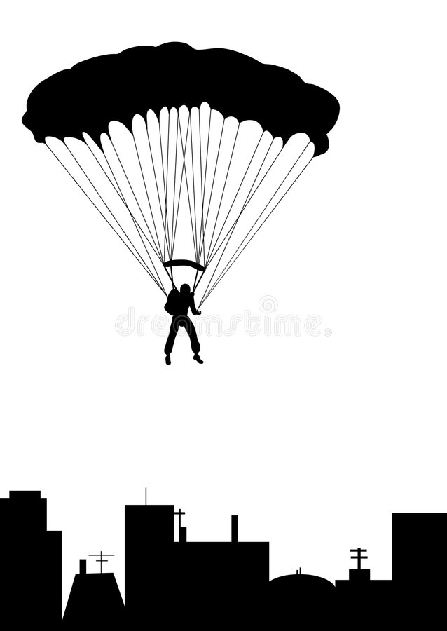 Skydiving illustrazione di stock