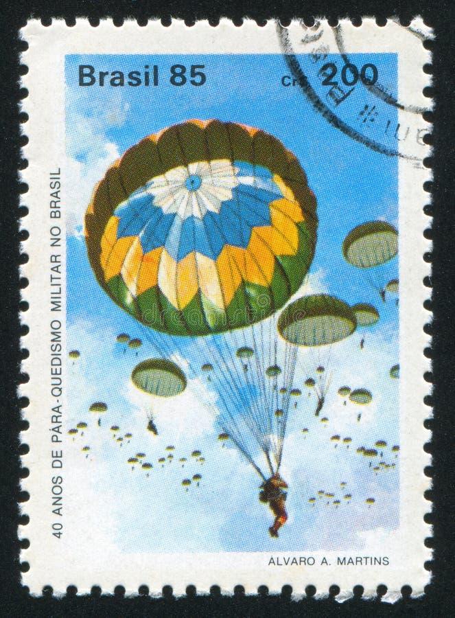 skydiving royaltyfria foton