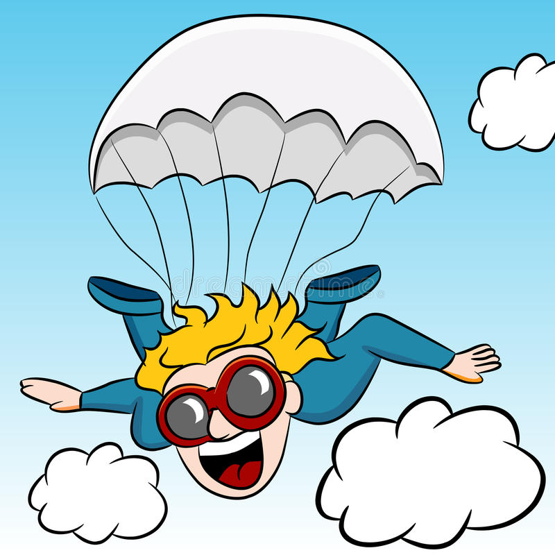 Skydiving Adventure stock illustration