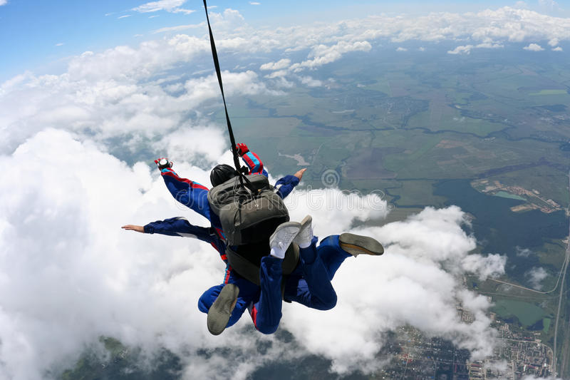 Skydiving Foto lizenzfreie stockfotos