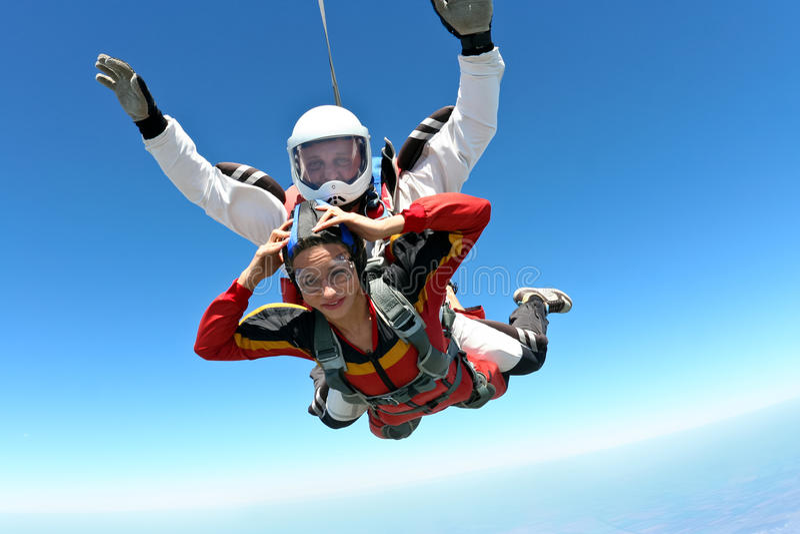 Skydiving Foto stockfoto