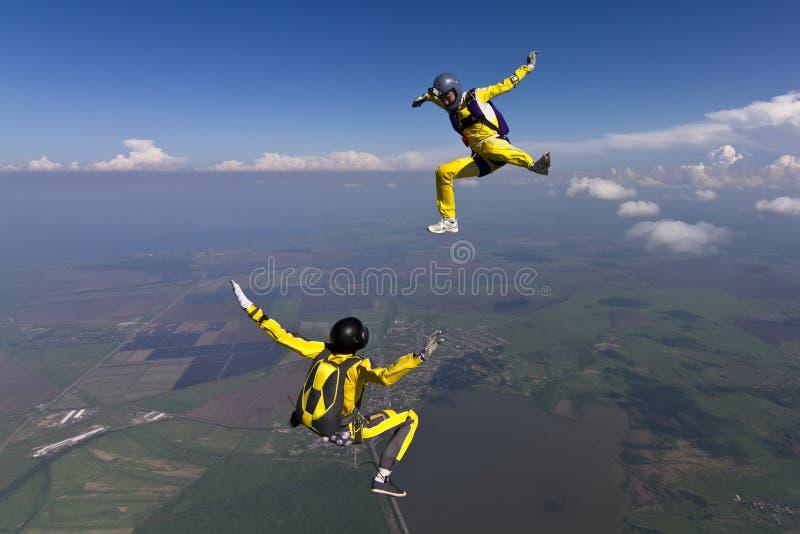 Skydiving Foto. lizenzfreie stockfotografie