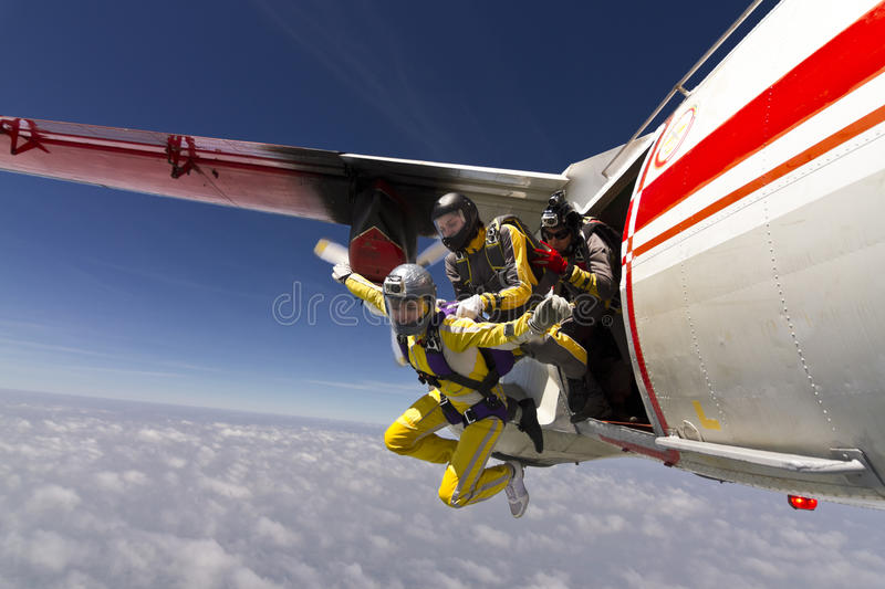 Skydiving Foto. stockfotografie