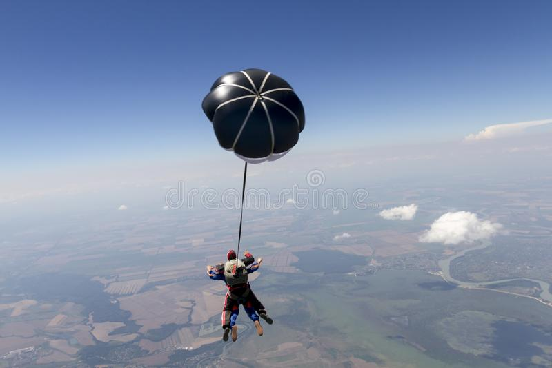 Skydiving Foto Fliegen in einen freien Fall stockfotos
