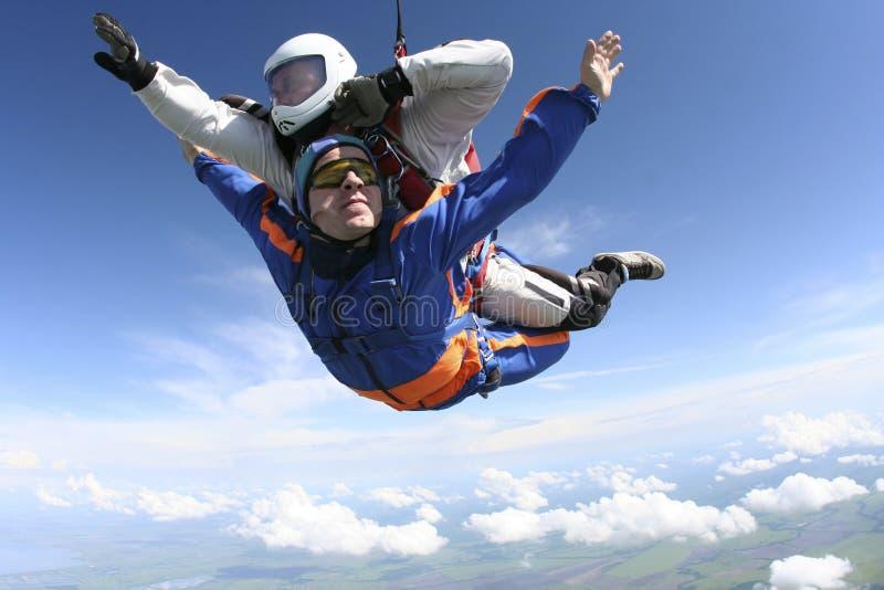 Skydiving Foto tandem stockbilder