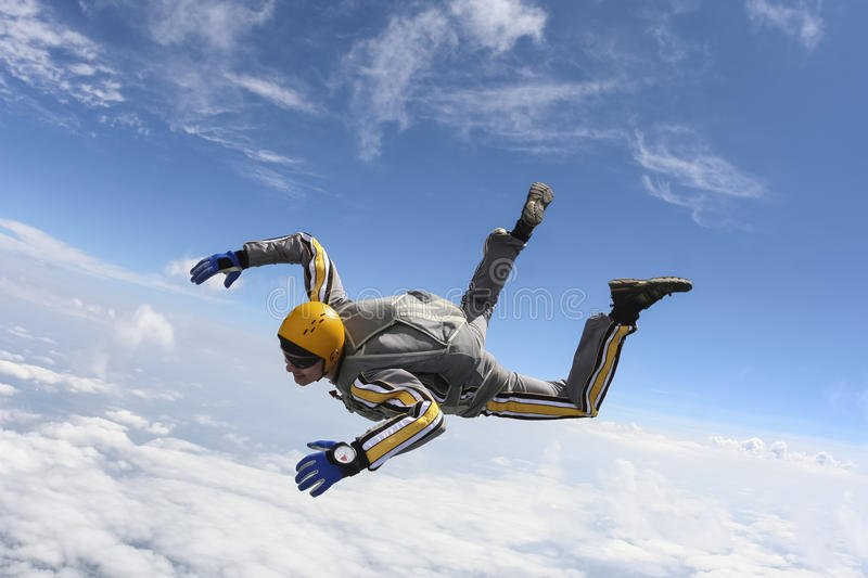 Skydiving fotografia. obraz royalty free