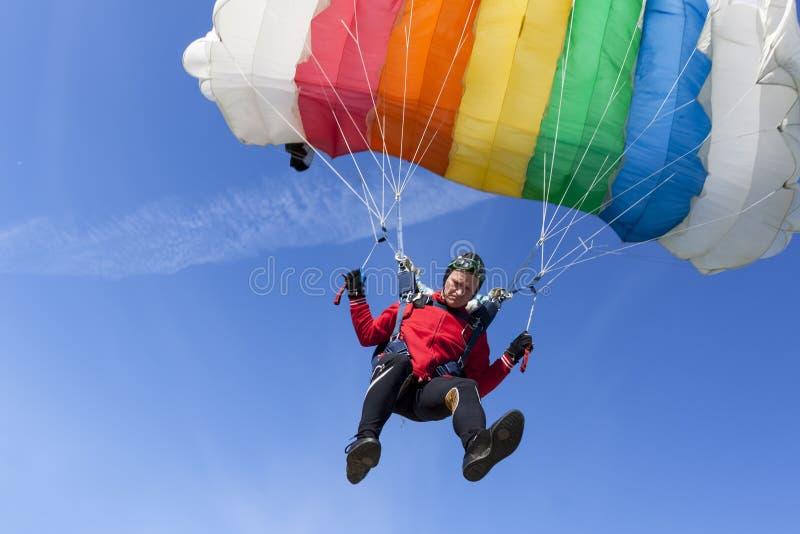 Skydiving fotografia. zdjęcia stock