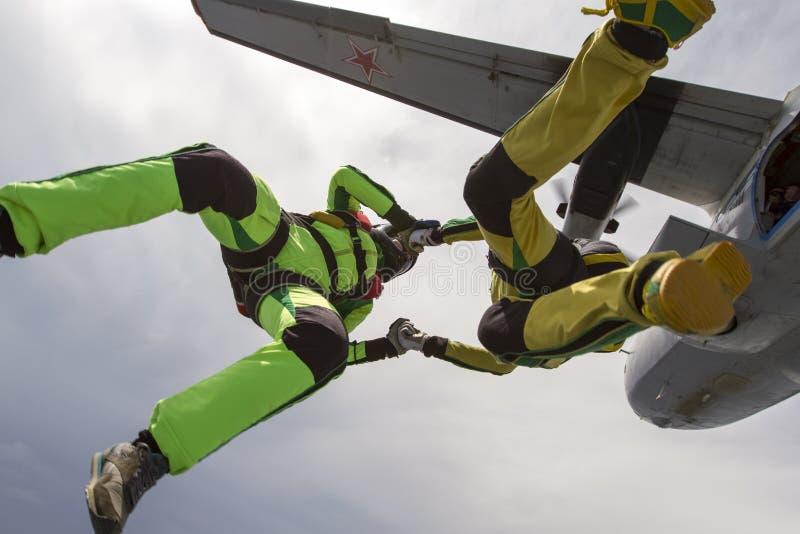 Skydiving fotografia. zdjęcie royalty free