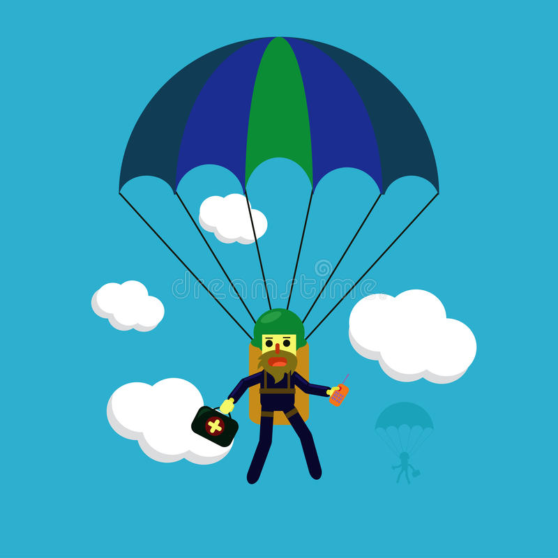 Skydiving royalty free illustration