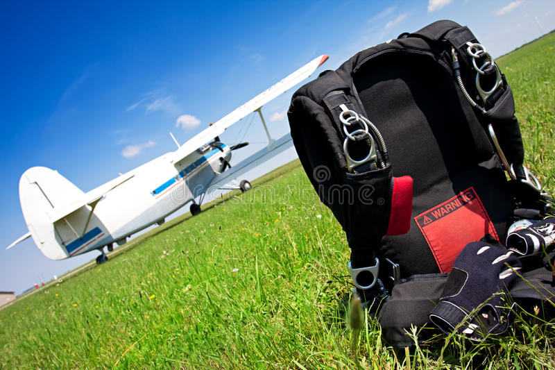 Download Skydiving parachutes stock image. Image of pack, blue - 25123247
