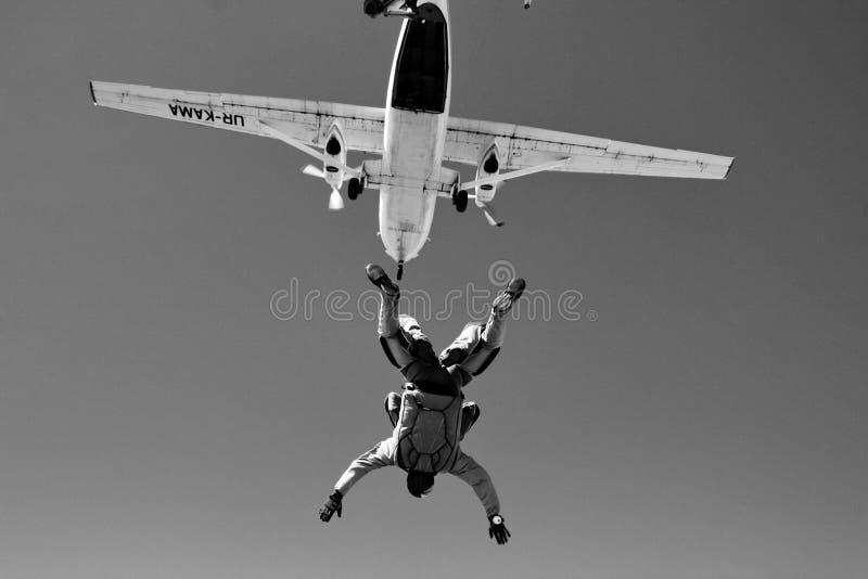 Skydiving Tandem lizenzfreie stockfotografie