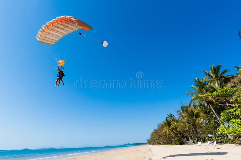 Download Skydiving Tandem Landing Beach Editorial Photography - Image: 26923297