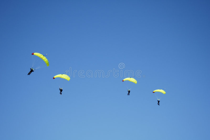 Skydiving Team 7 royalty free stock image