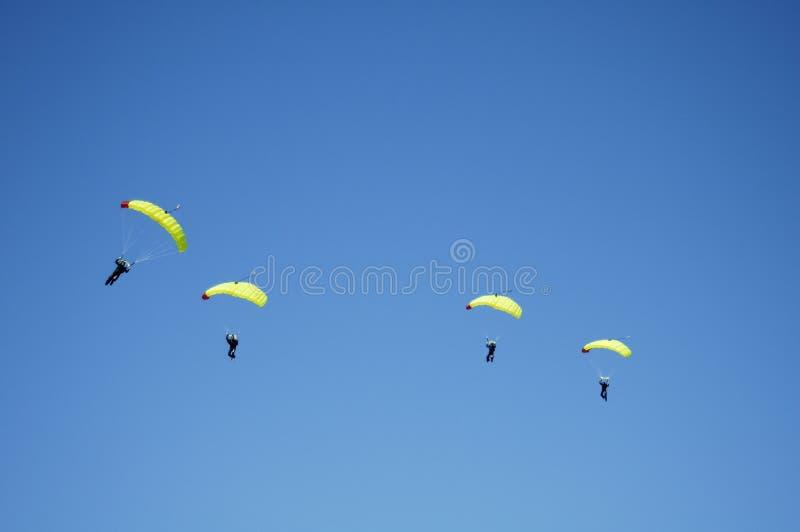 Skydiving Team 7 lizenzfreies stockbild