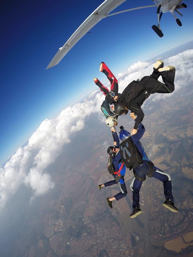 Skydivingsteam stock foto
