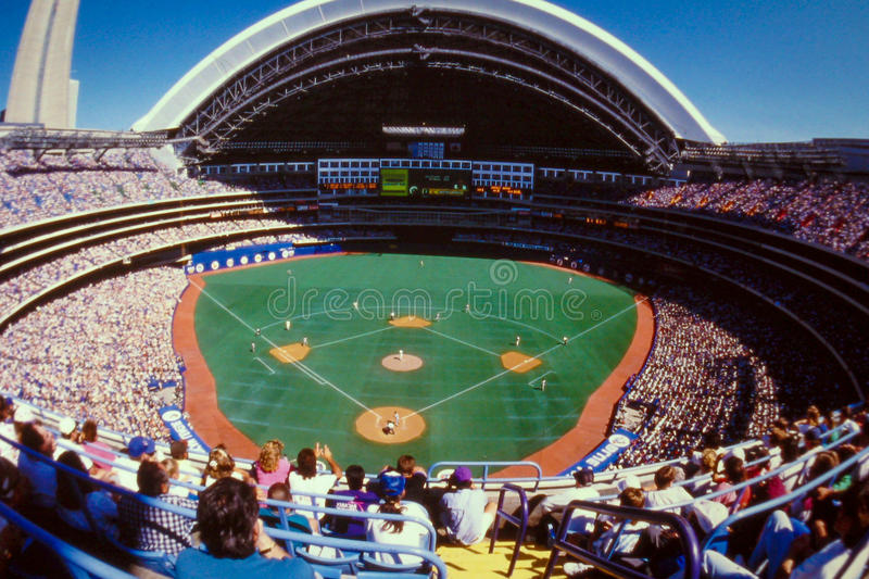 Skydome, Toronto, Canada. The Skydome in Toronto, Canada. (Scanned from color slide royalty free stock images
