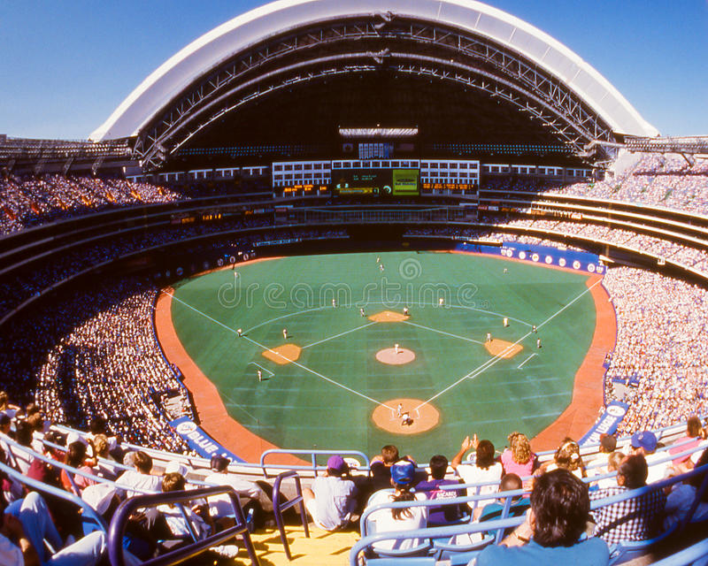 Skydome, Toronto, Canada. The Skydome in Toronto, Canada. (Scanned from color slide royalty free stock image