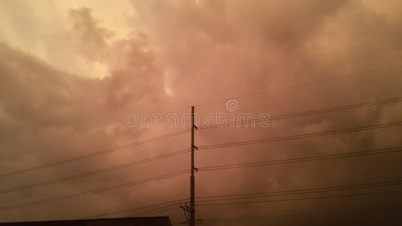 Skyes rojos fotos de archivo