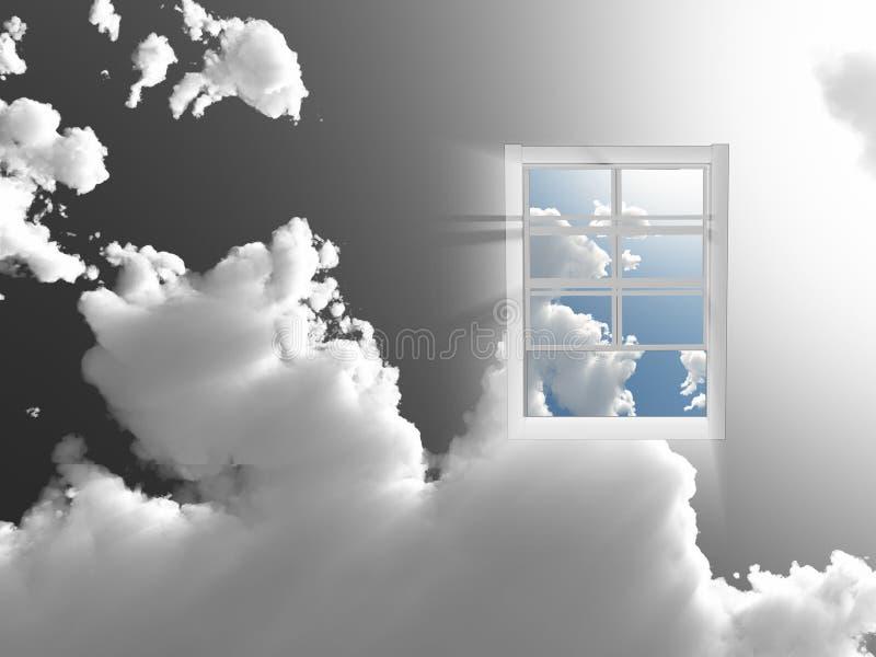 skyfönster royaltyfri illustrationer