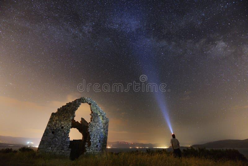 Skygazing photos libres de droits