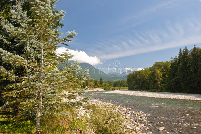 Skykomish Fluss stockbild