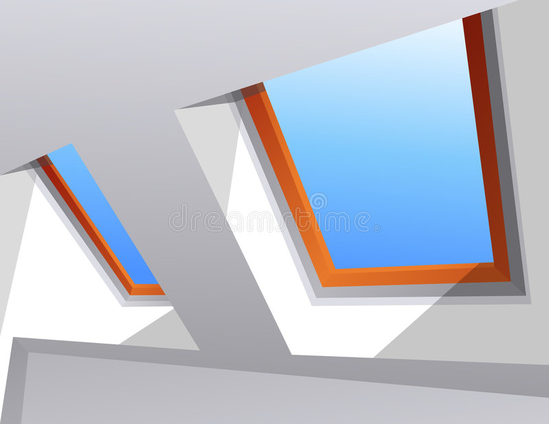 Download Skylight stock vector. Image of architecture, skylight - 8592856