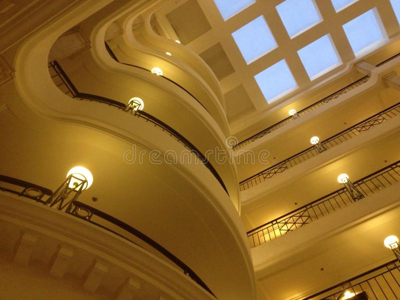 Skylight in a Bangalore hotel stock image