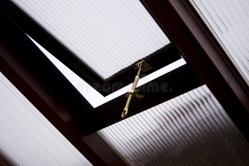 Skylight window conservatory stock photo