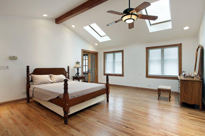 skylights спальни мастерские стоковое изображение rf