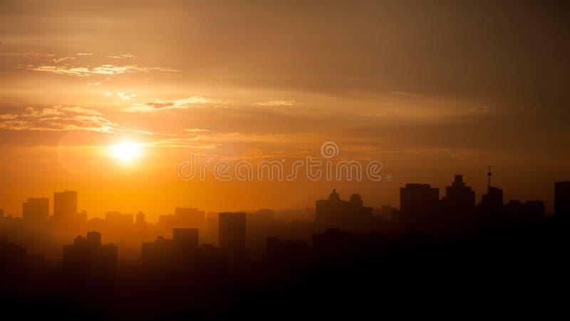 Skyline África do Sul de Durban imagem de stock royalty free