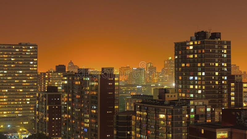 Skyline África do Sul de Durban imagem de stock