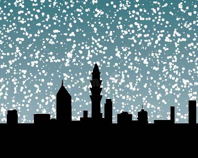 Skyline 2 da neve ilustração stock